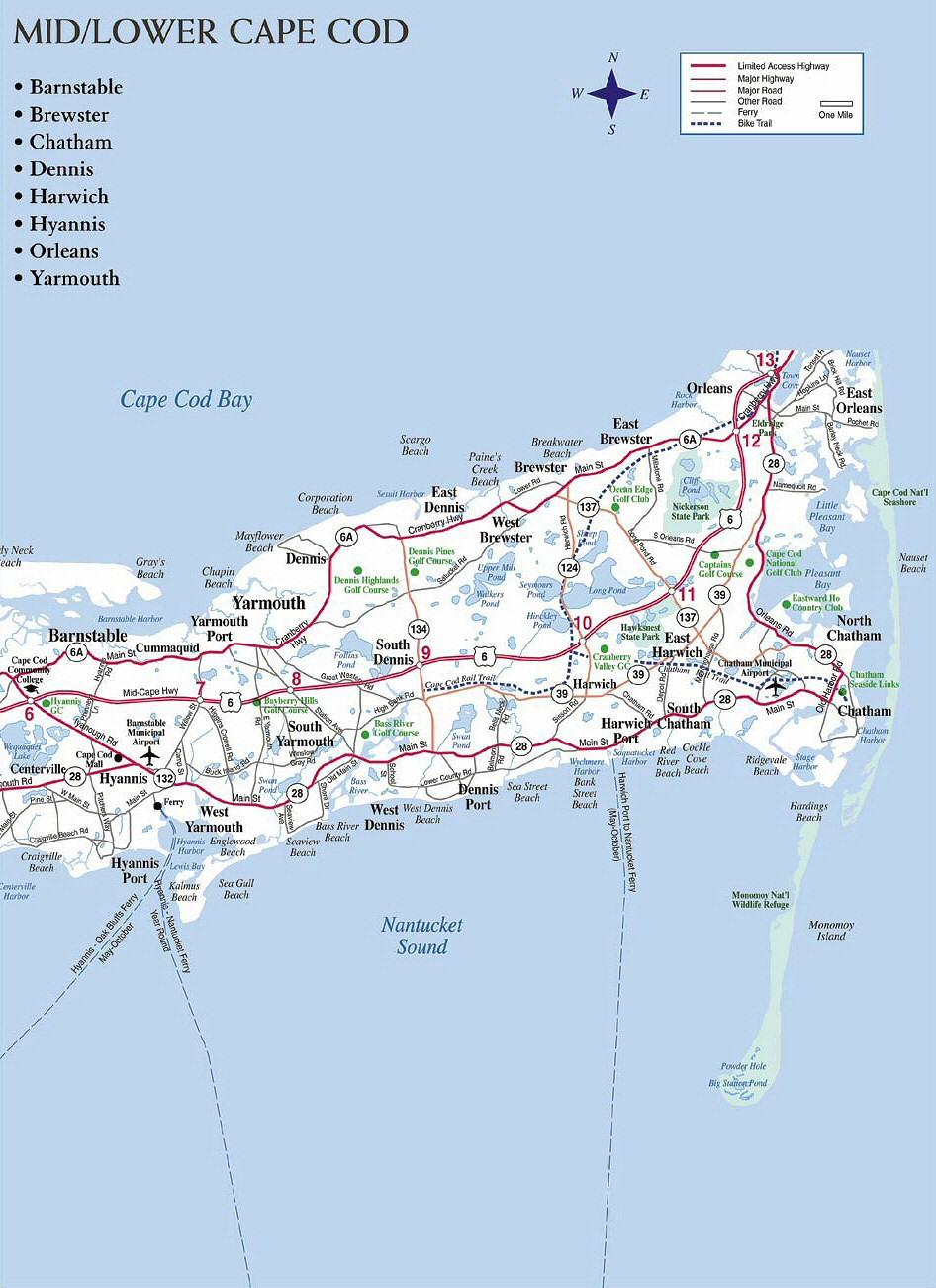 Plan De Cape Cod